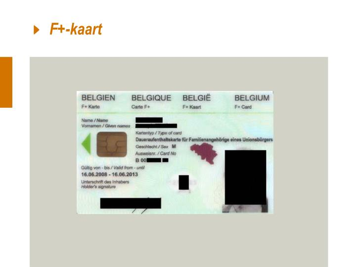 F+-kaart