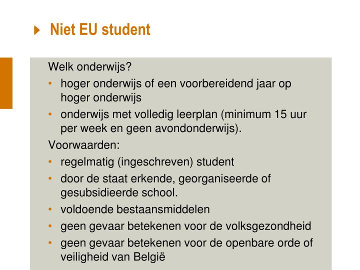 Niet EU student