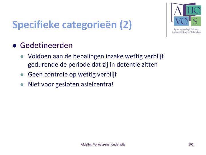 Specifieke categorieën (2)