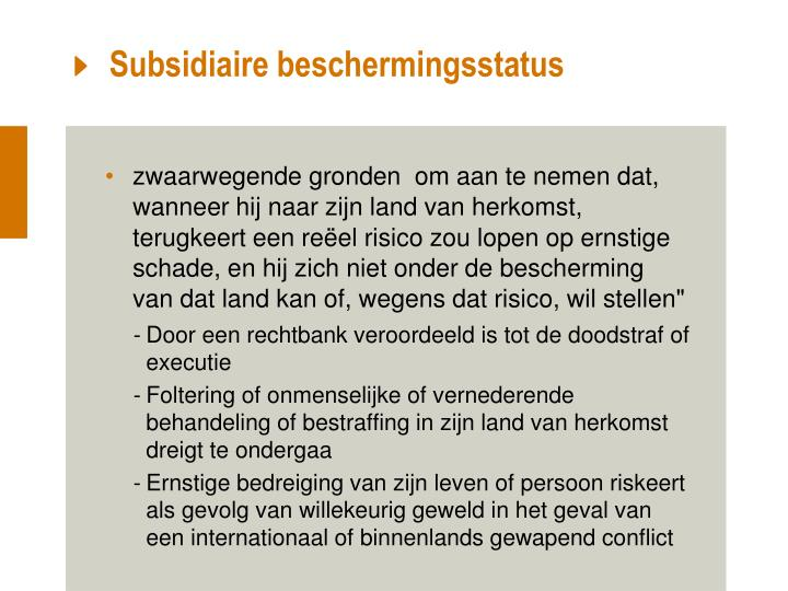 Subsidiaire beschermingsstatus