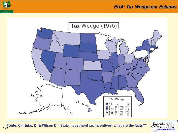 EUA: Tax Wedge por Estados