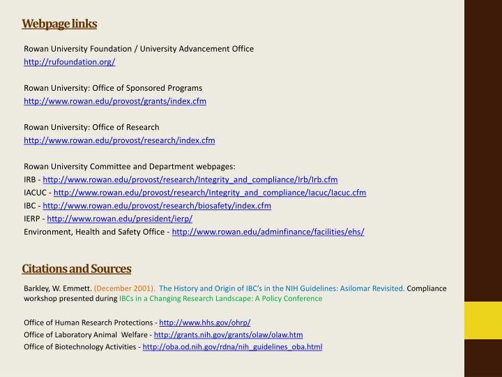 Webpage links