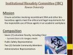 institutional biosafety committee ibc rowan university