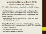 institutional review board irb rowan university irb applications