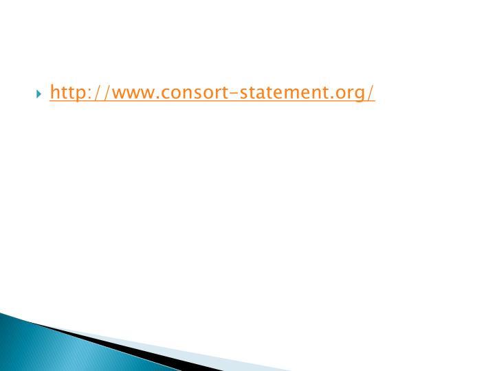 http://www.consort-statement.org/