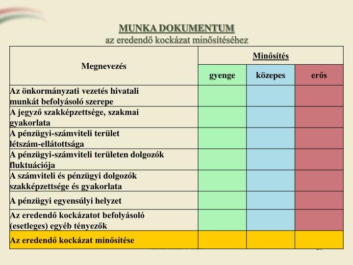 MUNKA DOKUMENTUM
