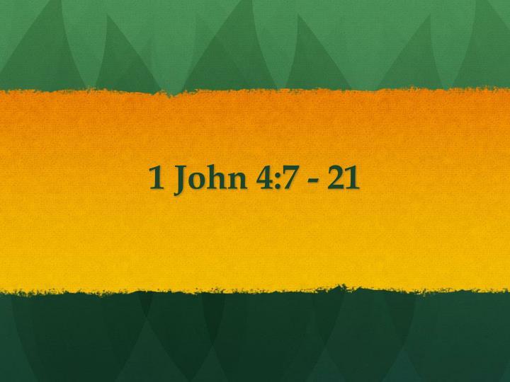 1 John 4:7 -