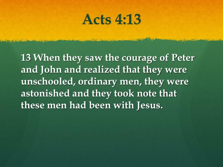 Acts 4:13
