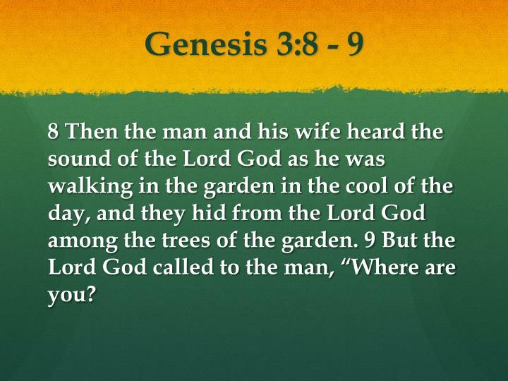 Genesis 3:8 - 9