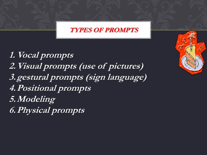 Types of prompts