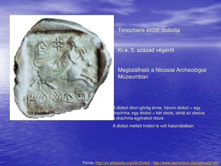 Timocharis ezüst diobolja