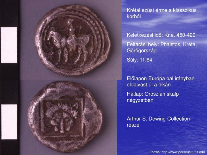 Krétai ezüst érme a klasszikus korból