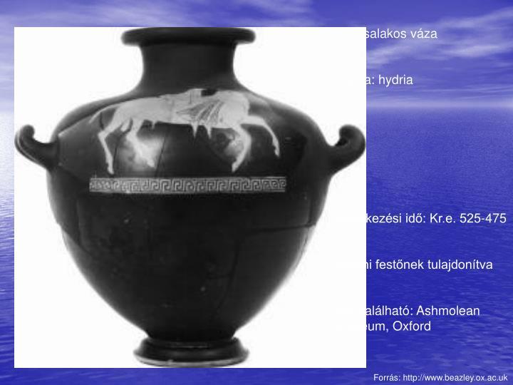 Vörösalakos váza