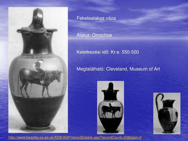 Feketealakos váza