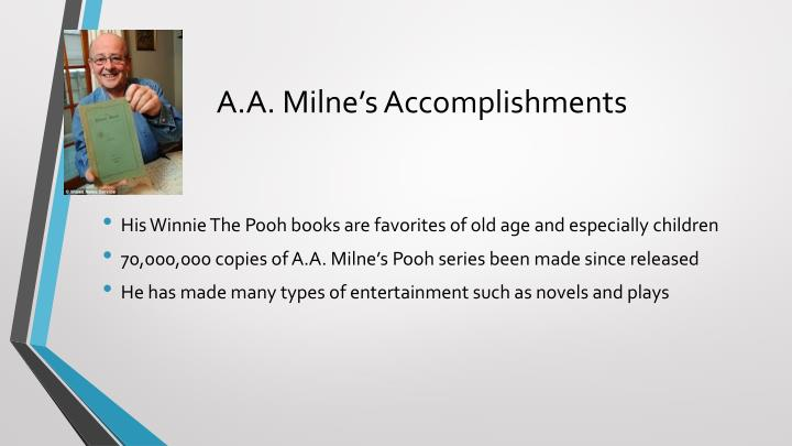 A a milne s accomplishments