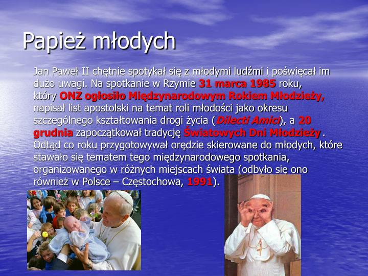 Papież młodych