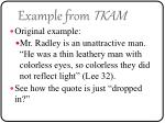 example from tkam