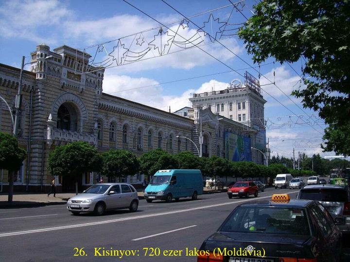26.  Kisinyov: 720 ezer lakos (Moldávia)