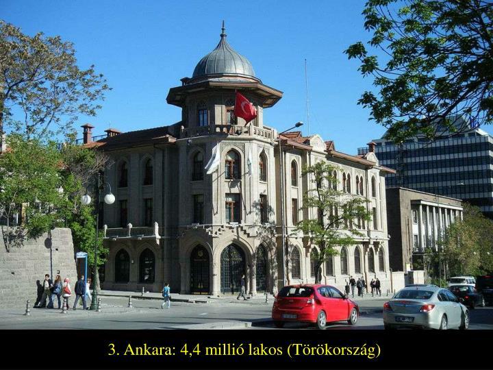 3. Ankara: 4,4 millió lakos (Törökország)