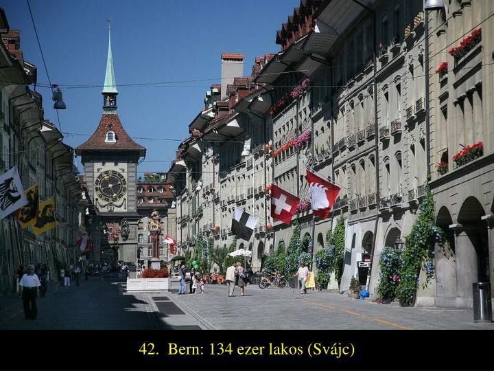 42.  Bern: 134 ezer lakos (Svájc)