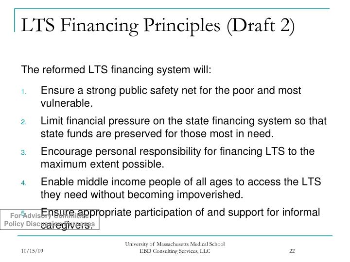 LTS Financing Principles (Draft 2)