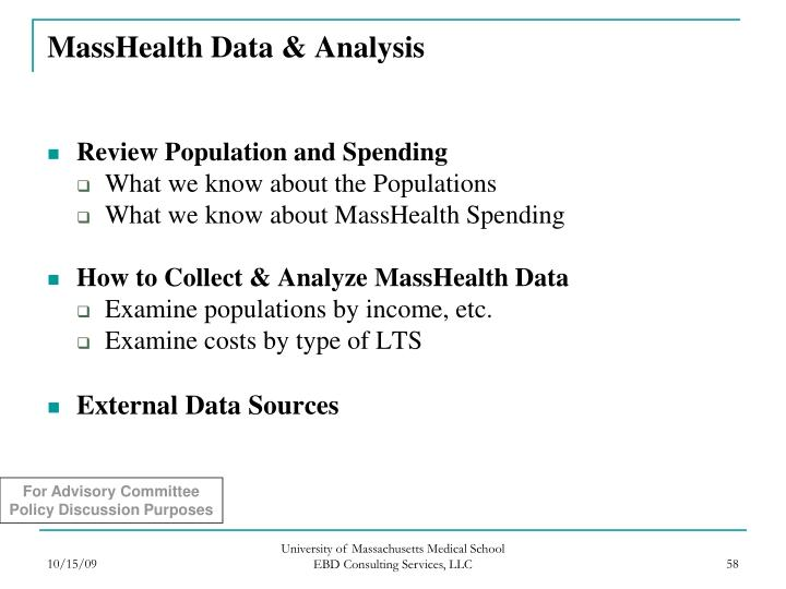 MassHealth Data & Analysis