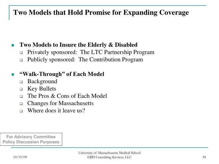 Two Models that Hold Promise for Expanding Coverage