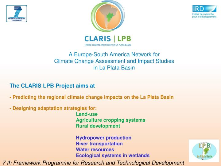 A Europe-South America Network for