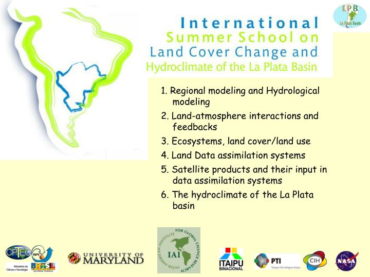 1. Regional modeling and