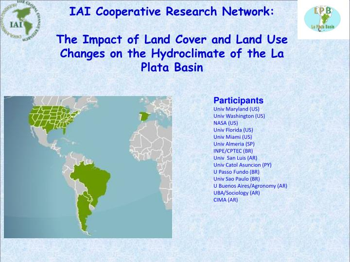 IAI Cooperative Research Network: