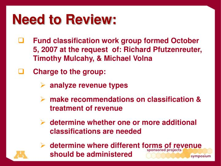 Need to Review: