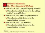 inventory transfers the three procedural methods