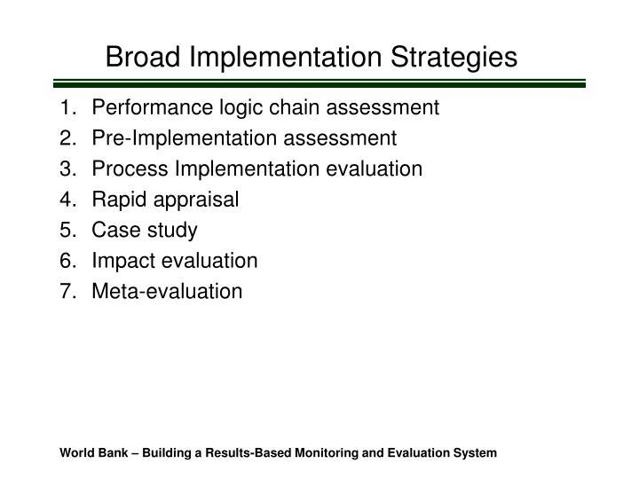 Broad Implementation Strategies