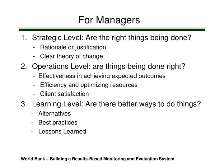 For Managers
