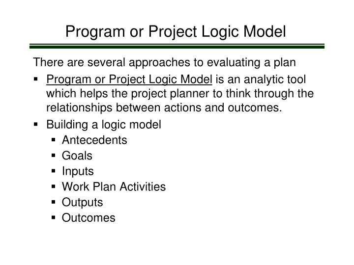 Program or Project Logic Model