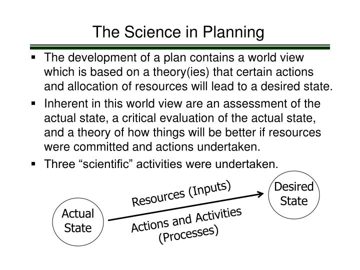 The Science in Planning