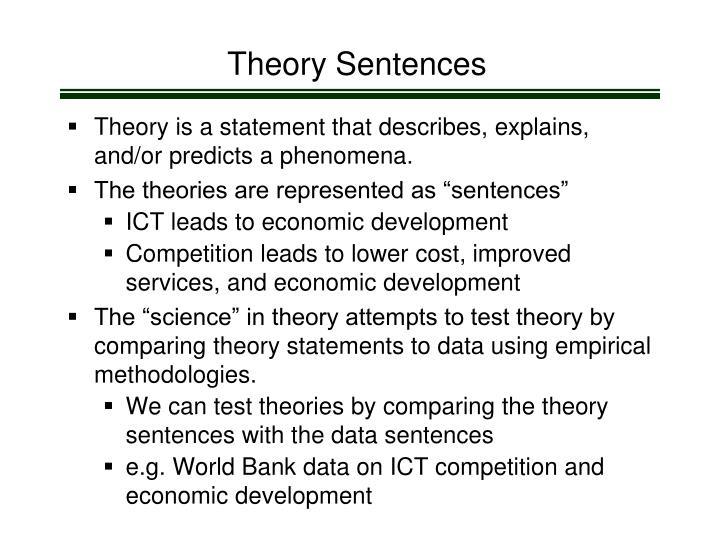 Theory Sentences