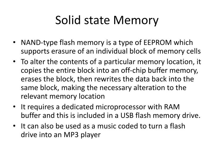 Solid state Memory