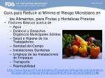 gu a para reducir al m nimo el riesgo microbiano en los alimentos para frutas y hortalizas frescas