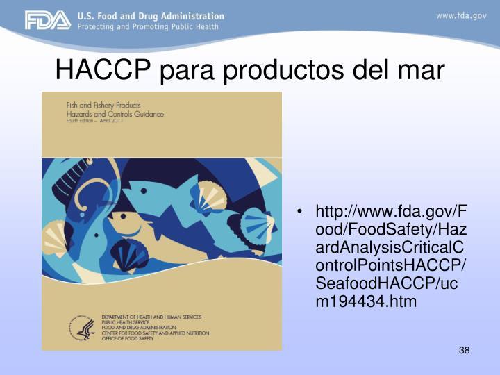 HACCP para productos del mar