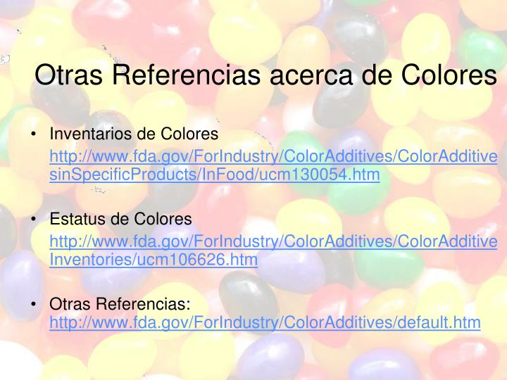 Otras Referencias acerca de Colores