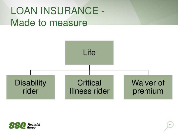LOAN INSURANCE -                   Made to measure