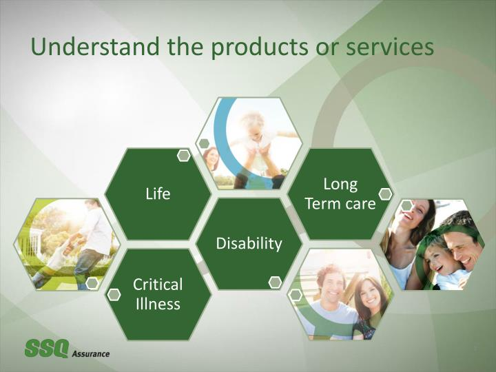 Understand the products or services