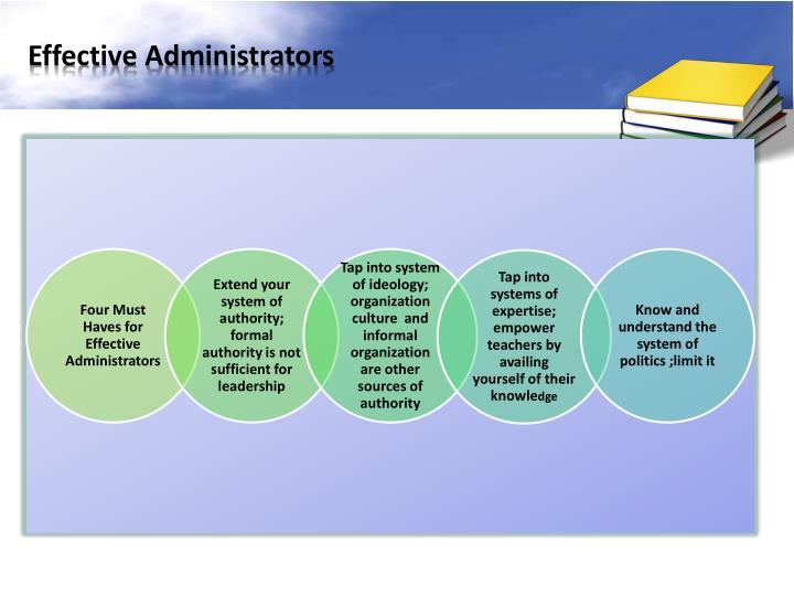 Effective Administrators