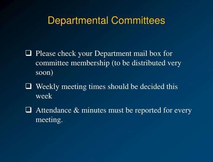 Departmental Committees
