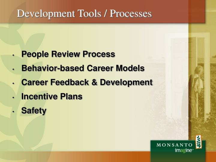 Development Tools / Processes