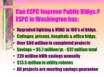 can espc improve public bldgs espc in washington has