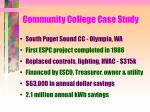 community college case study