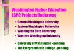 washington higher education espc projects underway