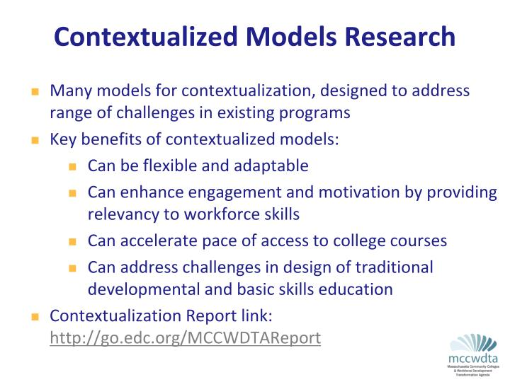 Contextualized Models Research